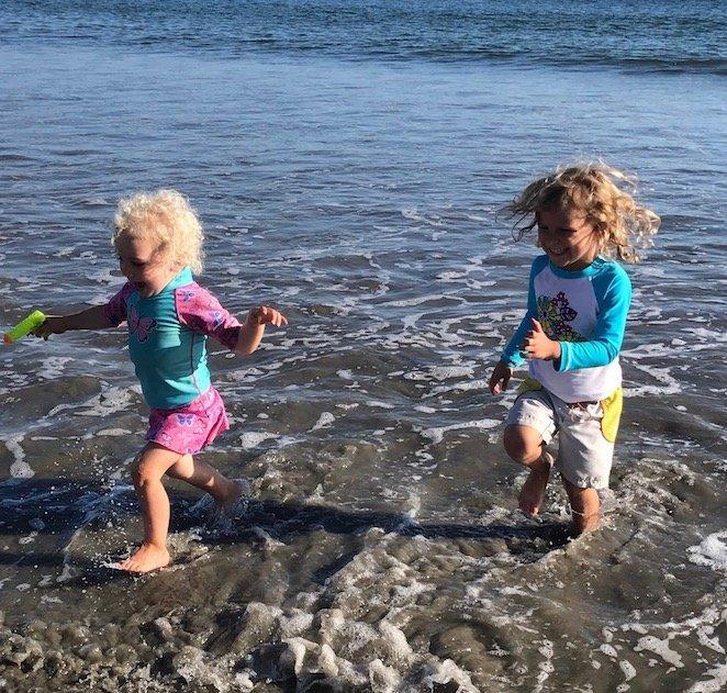 Girls Running Avila Beach