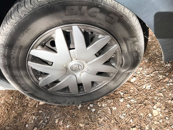 Tire in Van while Full time RVing with kids