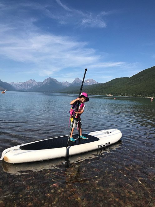 Things to Put On a Bucket List Swimming and Paddle boarding Glacier National park