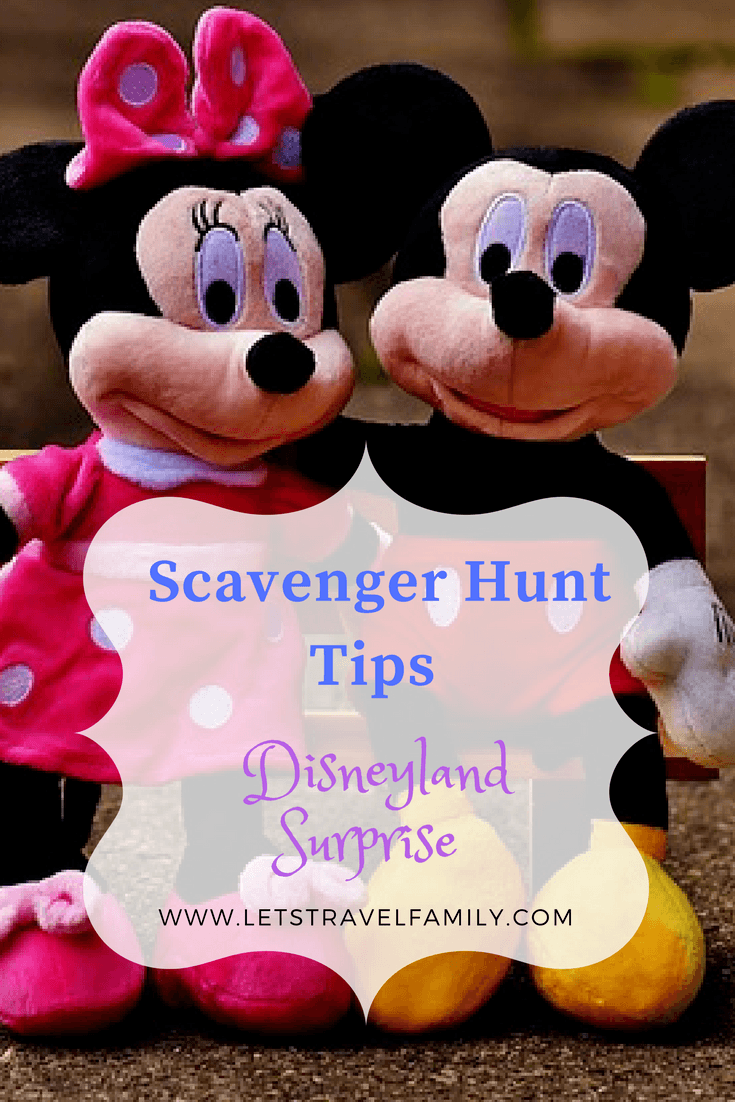 Disneyland Scavenger Hunt  Clues
