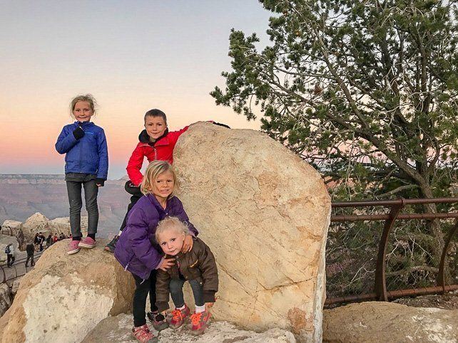 Grand Canyon with Kids Sunset