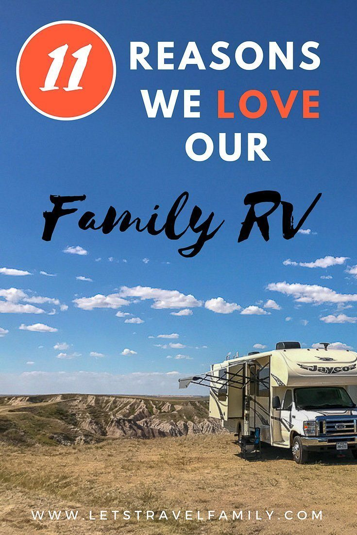 Our full-time RV living family LOVES are Class C RV motorhome. Check out our 11 reasons why we love our Class C and live in it with 4 kids! #rvliving #rv #rvlife #rving #motorhome #classc