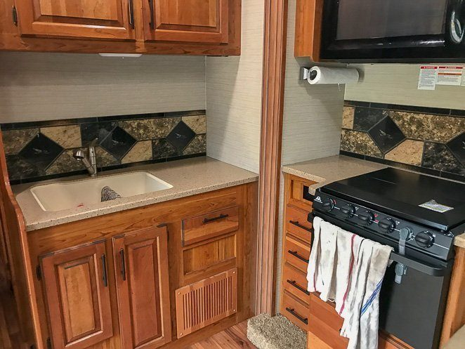 How to live in an RV full time - RV Kitchen