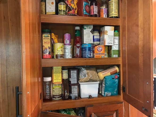 Living in a camper or motorhome - food storage