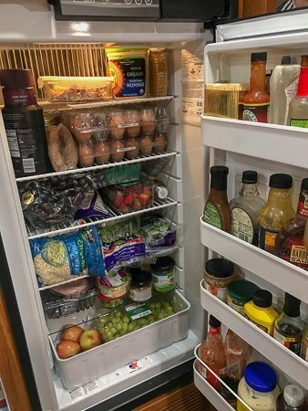 RV living tips - Organize your Refrigerator