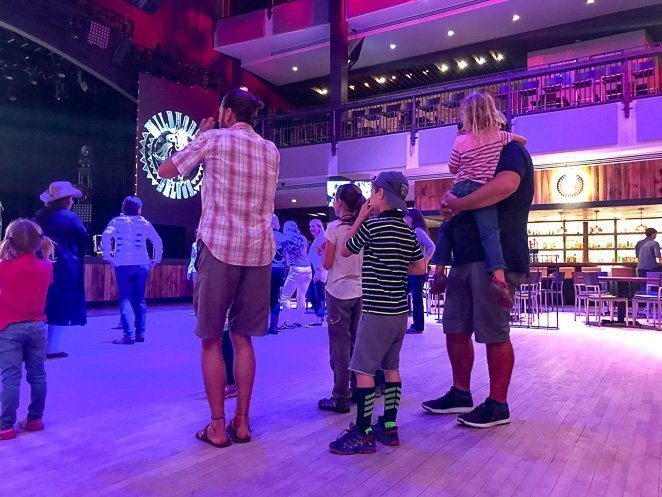 Country Line Dance with Kids in Nashville - Wild Horse Saloon_
