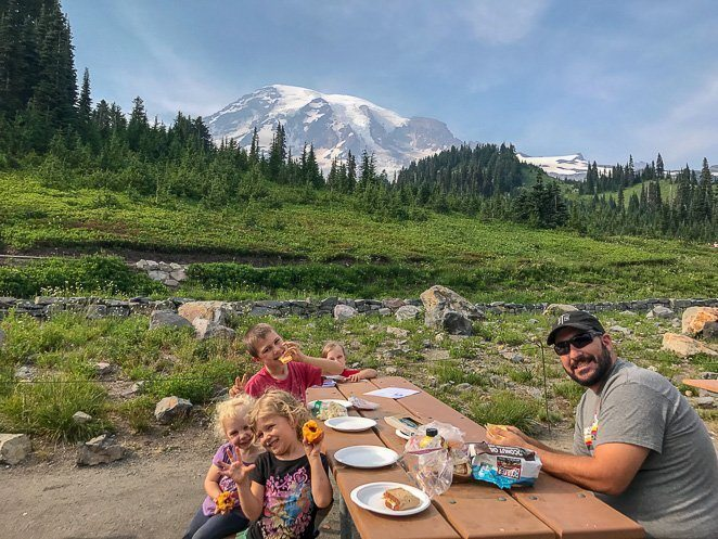 Healthy Snacks for Traveling with Kids - Rainer National Park_