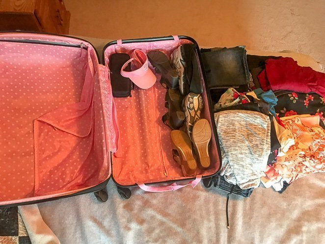 Pack Light - Pack less stuff when traveling with kids