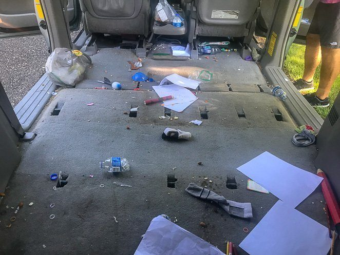 Road Trip With Kids - Messy Van or Car