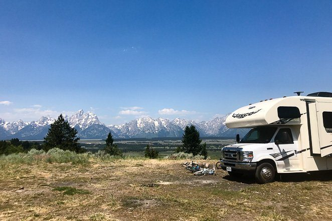Boondocking in Grand Teton National Park - bucket list ideas that are free