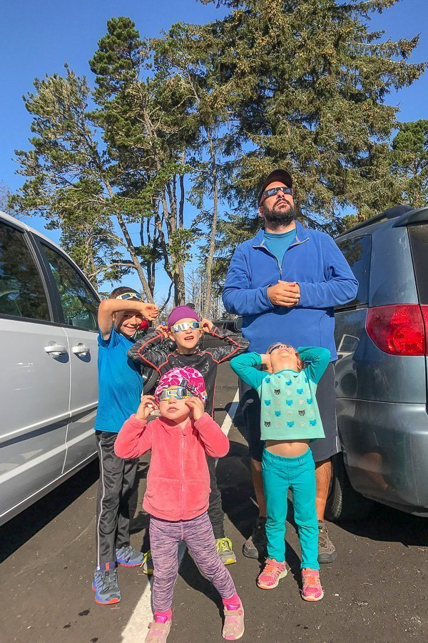 Family Travel to see the Eclipse worldschoolers