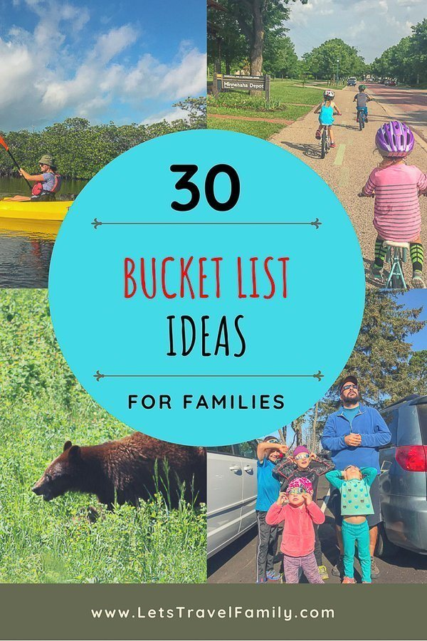 Do you need family travel inspiration or ideas? Here is our ultimate list of 30 simple bucket list ideas that you can use to include the entire family! From beaches and mountains to large cities or your own backyard, we cover a variety of ideas to inspire you and your family. #familytravel #bucketlist #bucketlistideas #travel #family #families