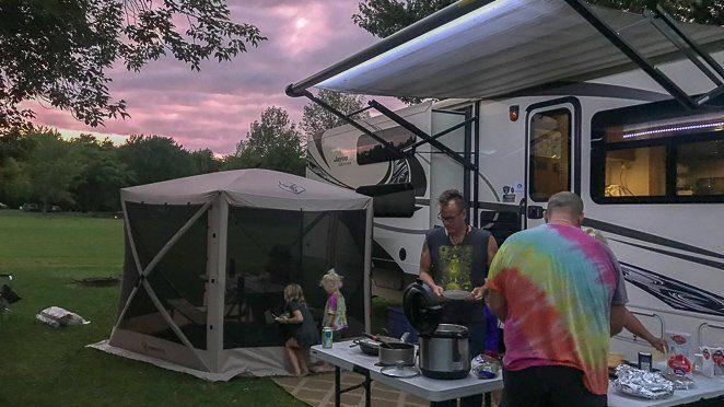 Camping at Four Mile Creek State Park - Niagara Falls NY