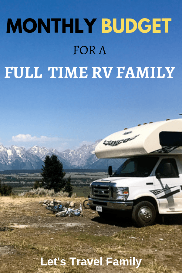 Cost of RV Living from a Full Time RV Family #rv #rvliving #rvlife