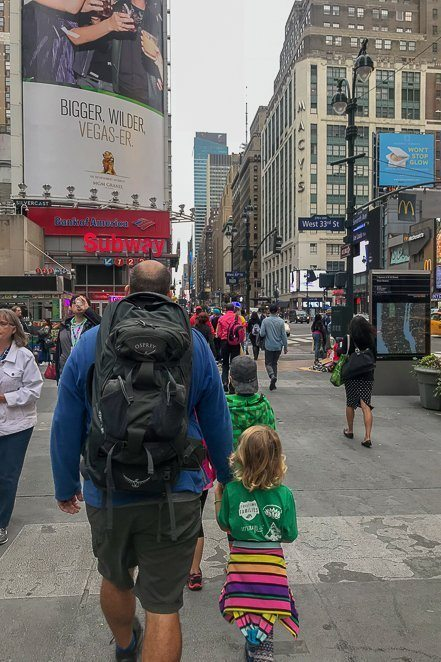 NYC with 4 kids and 1 backpack - traveling with children