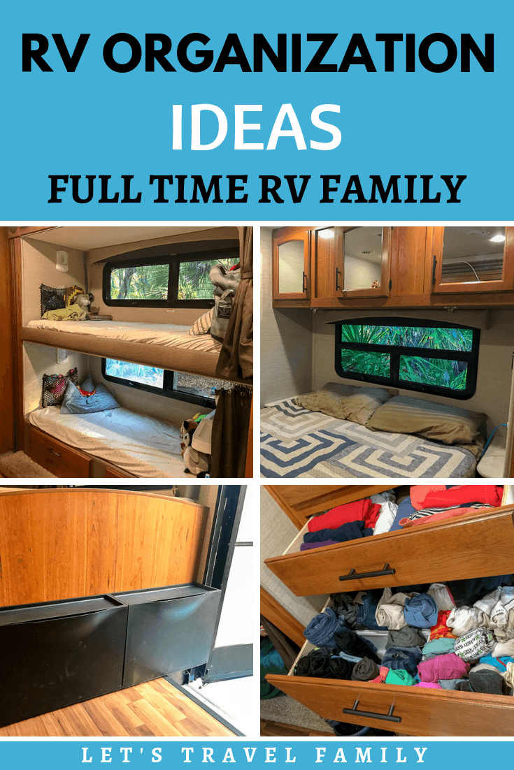 Follow these tips for organizing your RV to make your RV living and traveling journey go smoothly. From RV hacks such as how to fit clothes or dishes into a tiny living space to where to put your shoes, we have you covered. #rvliving #rvhacks #rv #rvlife #rving