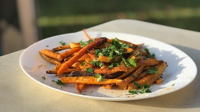 Easy camping meals - Sweet Potato fries