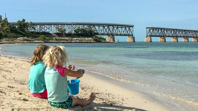 Florida Keys Beaches - Making sand Castles at Bahia Honda State Park