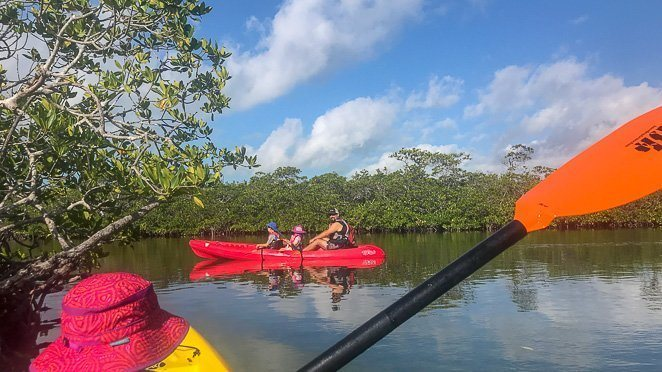 Kayaking in Florida Keys with kids