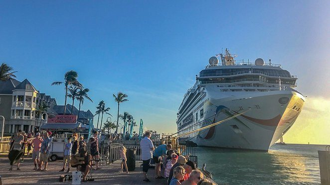 Key West this weekend - watch the sunset behind the cruise ship