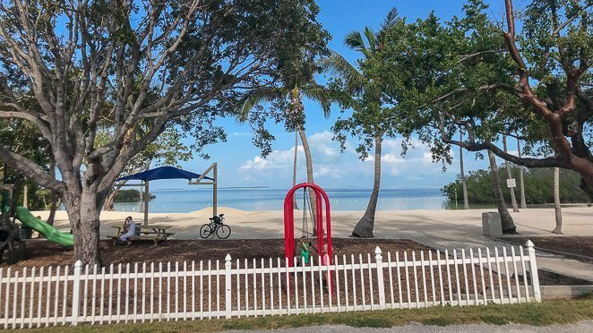 Playground for kids at Founders Park Islamorada Florida Keys