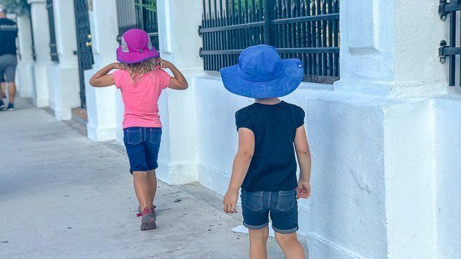Things for kids to do in Key West - wear sun hats