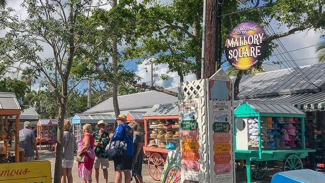 Things to do in Key West Florida - shop at Mallory Square