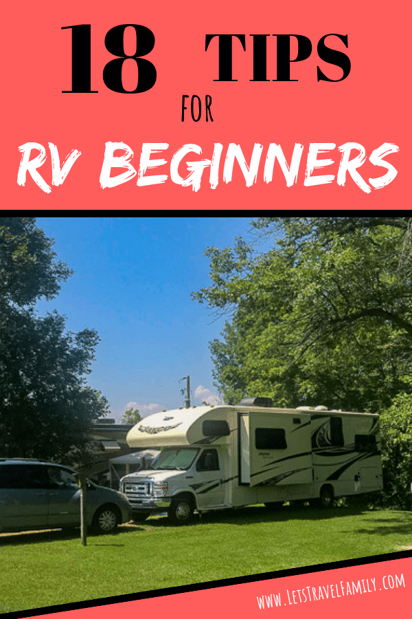18 TIPS FOR RV BEGINNERS