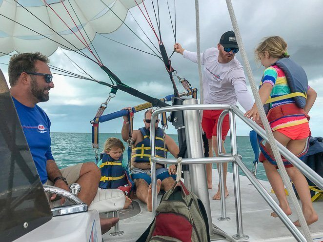 Parasailing Key West with kids