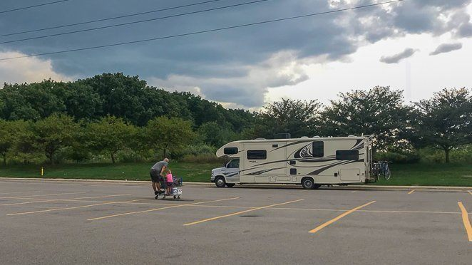 RV tips 101 - Walmart Parking Lot