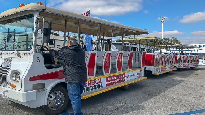 Tampa RV Show Tram