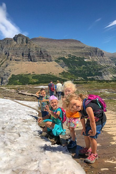 Glacier National Park for Kids - Hidden Lake Trail