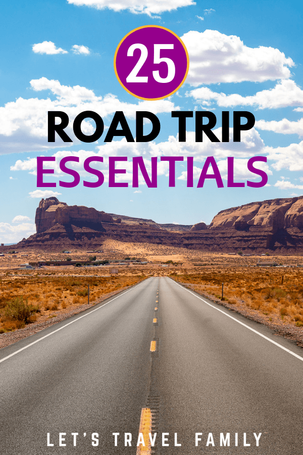Learn our top tips and hacks for a successful road trip, along with our top 25 road trip essentials. Spend less time packing and more time planning a fun cross country trip! #roadtrip #packing #travel