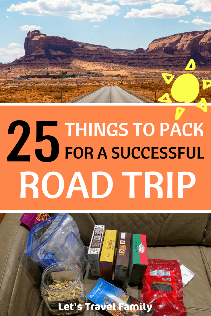 THINGS TO PACK FOR A SUCCESSFUL ROAD TRIP