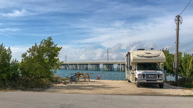 Where can I park my RV to live? Florida Keys