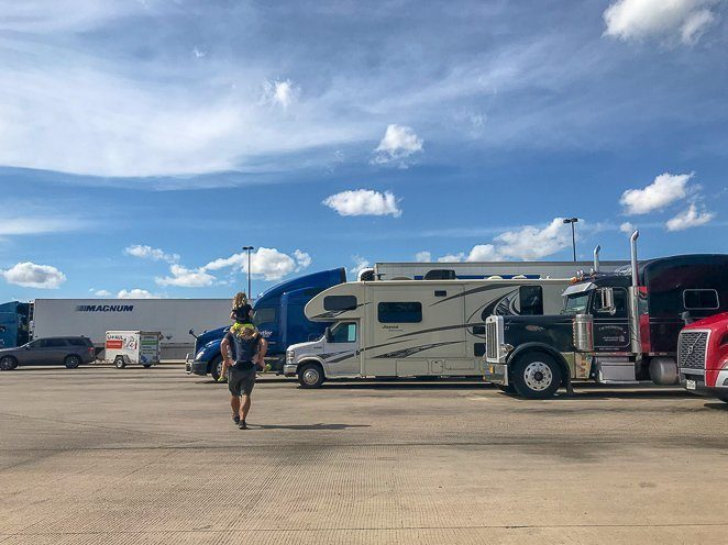 Free RV parking at truck stops
