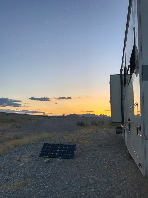 Free camping with solar