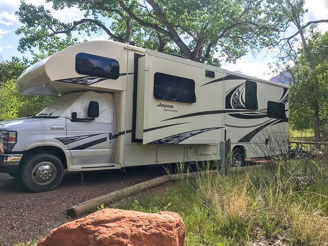 RV camping in Zion National Park - Watchman Campground