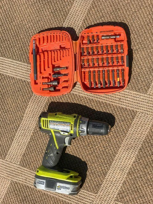 RV essentials kit and drill