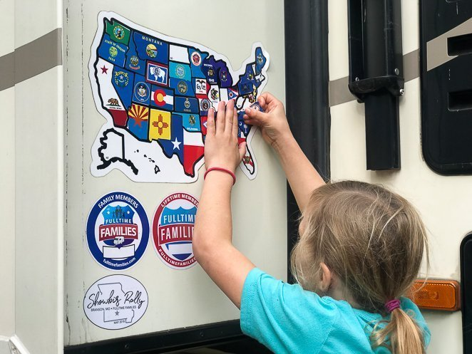 RV Sticker Map for a great RV Gift
