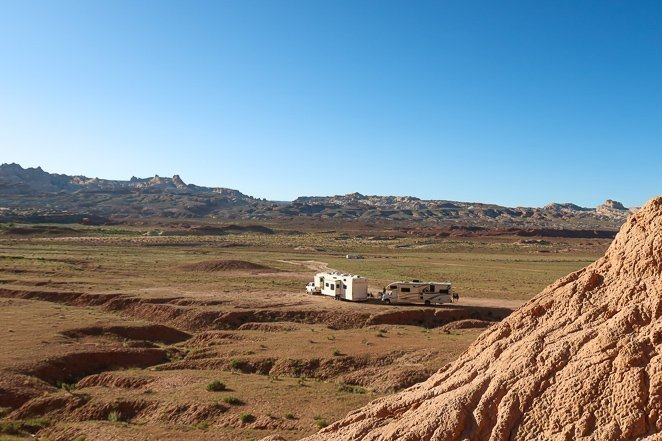 Boondocking at Goblin Valley State Park
