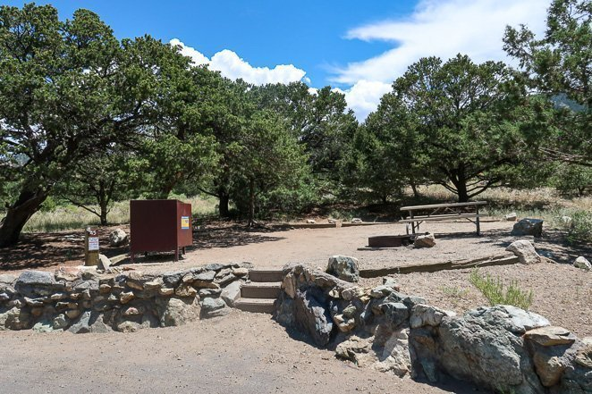 Camping at Pinon Flats campground
