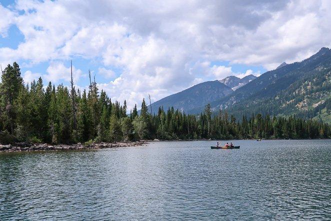 Canoe on Jenny's Lake