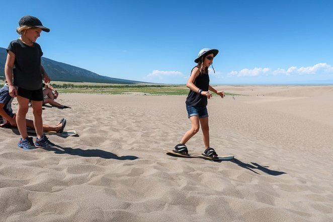 Go sand boarding at Great Sand Dunes