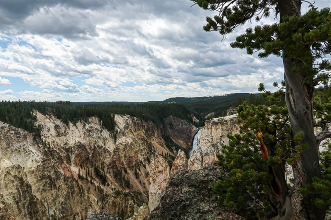 Brink of the Lower Falls Waterfalls