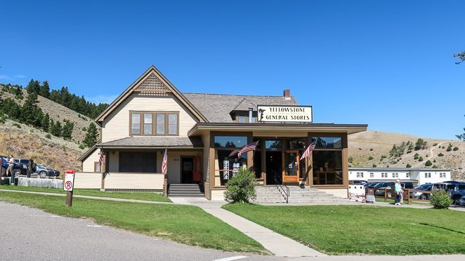 General Store and Service Stations in Mammoth Hot Springs