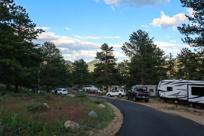 Go camping at rocky mountain national park