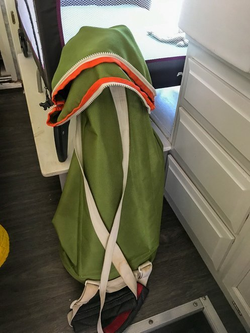 Laundry bag for RV or camping