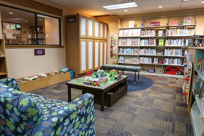 Rest at the Publish Library in Estes Park with kids
