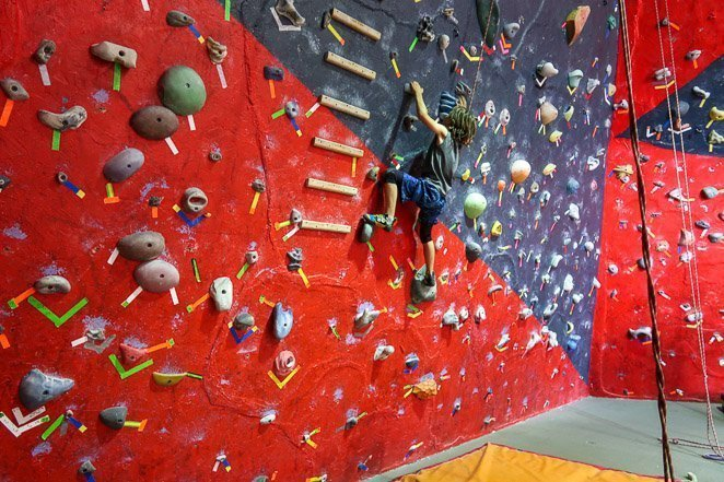 Rock Climbing with kids